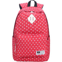 Red Lightweight Canvas Stylish Backpack School Bookbag Travel Bag