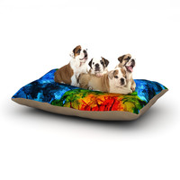 "Claire Day ""Flow"" Blue Green Dog Bed"