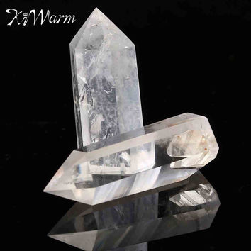 Clear Crystal Quartz Wand Point Healing Stones for Aquarium DIY Crafts Making Ornaments Home Decor Gift