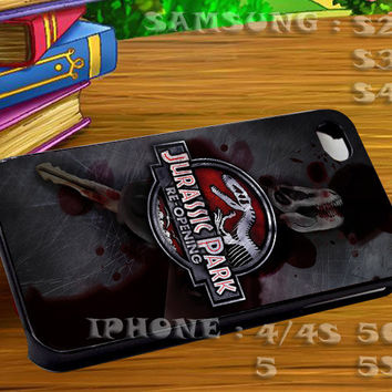 JURASSIC PARK Re Opening Dinosaurs For iphone 4 iphone 5 samsung galaxy s4 / s3 / s2 Case Or Cover Phone.