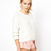Brave Soul | Brave Soul Crop Fluffy Jumper at ASOS