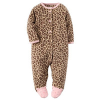 Baby Rompers Leopard Footed Fleece Romper For Baby Girls Boys Baby Autumn Winter Romper Jumpsuit With Foot Baby Winter Clothing