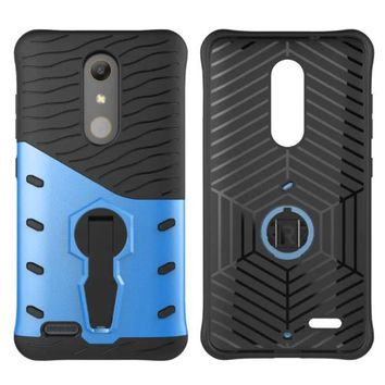 For ZTE Max Pro Phone Case Dual Protective Shockproof Phone Cover Stand Sniper Hybrid Rugged Armor Shell for ZTE Max Pro