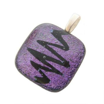 Purple Dichroic Glass - Temperature is Rising by mysassyglass