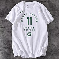Nike Dry NBA 2019 new men's round neck breathable casual T-shirt white