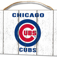 Chicago Cubs Small Plaque - Weathered Logo