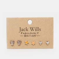 Jack Wills Landon Pineapple Earring Mulipack