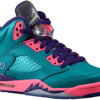 Release Date Air Jordan 5 Retro GS Teal/Pink-Purple
