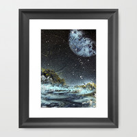 Path to Space  Framed Art Print by Lunacy Eavee