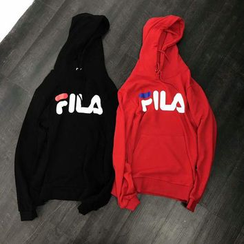ONETOW FILA Fashion Simple Hoodie Top Sweater