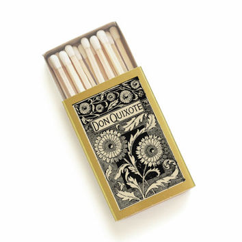 Don Quixote - Literary Matchbox - Cervantes - Tiny Book Lover Gift - Travel the World - Pair with a Candle - Light a Wanderlust Spark