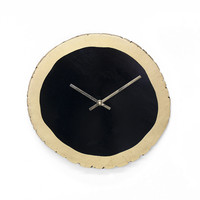 Black and Gold Leaf Clock