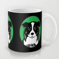 Border Collie Printmaking Art Mug by Artist Abigail