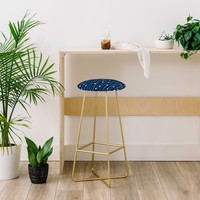 Heather Dutton Navy Entangled Bar Stool