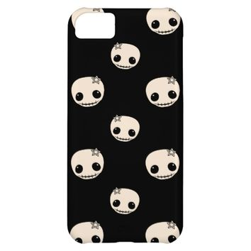 Kawaii cute goth girly skull emo skulls pattern iPhone 5C case
