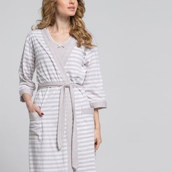 Maternity & Nursing Robe and Gown Set
