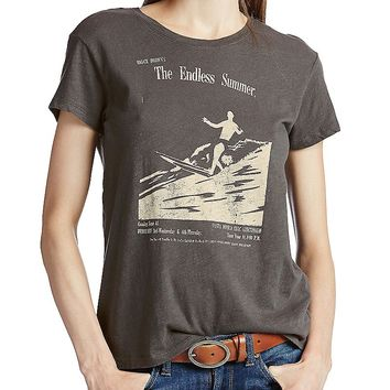 Lucky Brand Endless Summer Tee Womens - Black Mountain