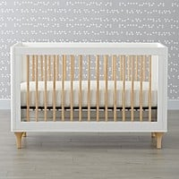 Babyletto Lolly White & Natural Convertible Crib
