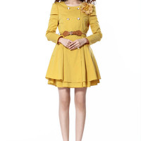 Aliexpress.com : Buy Free shipping  2013 England Style Autumn winter Woman new ladies commuter double breasted Slim dress women D314 A 9078 60 from Reliable women sequin dress suppliers on eFoxcity Wholesale