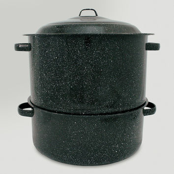 Black Graniteware 3-Pc. Lobster Pot, 19 Qt. - World Market