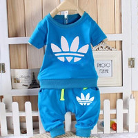 New Arrival Baby Boys/Girls Toddler Clothing Tracksuits Short Sleeve T-Shirt+Short Pants Clothes Kids Outfits Children Sets
