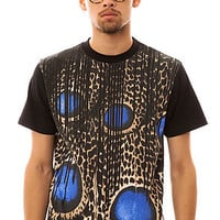 Filthy Dripped Tee Peacock in Black