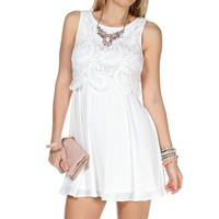 Sale-lace Top Skater Dress