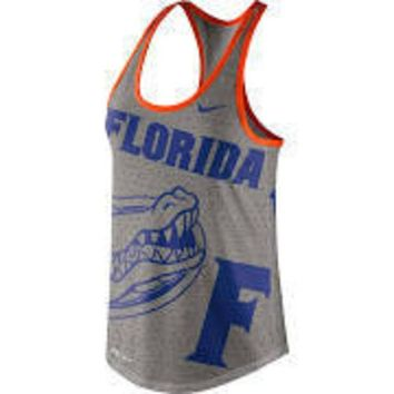 ESBON NCAA Florida Gators Nike Women's Dri-Blend Gear Up Performance Tank Top - Gray