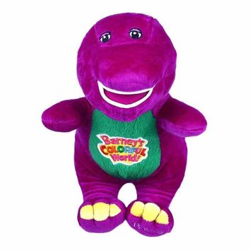 "2016 Hot Sale 12"" Singing Friends Dinosaur Barney I LOVE YOU Plush Doll Baby Born Toy For Children Gift"