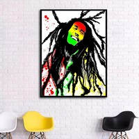 Impression Bob Marley Portrait print Oil Painting Canvas Paintings Printed Wall Art Hanging Pictures Fashion Home Decoration
