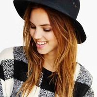 Short-Brim Floppy Hat-