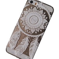 Symbolcase Plastic Case Cover for Iphone 5 5s 5c Henna Ojibwe Dream Catcher Ethnic Tribal (For Iphone 5 5s) (white)
