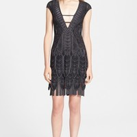 Roberto Cavalli Metallic Knit Cocktail Dress | Nordstrom