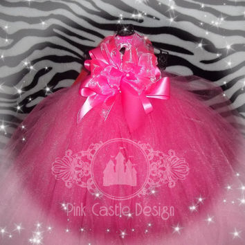Gorgeous Hot Pink Tutu Dress - Pageant- Wedding -Flower Girl- Baby-Infant-Toddler - Newborn up to 3T - Girl - Dance - Fun - Pretty