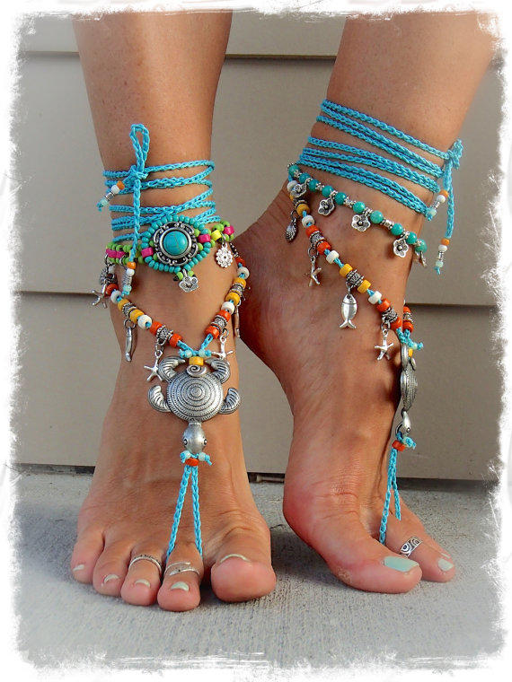 Cute Sea Turtle Barefoot Sandals Beach From Gpyoga On Etsy