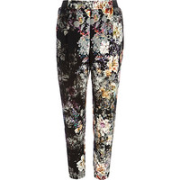 River Island Womens Grey floral print joggers