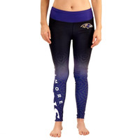 Baltimore Ravens Women's Gradient Leggings – Black