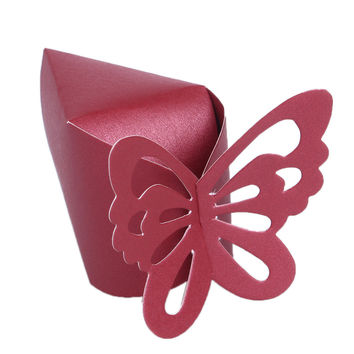 New 3 Color 50 Pcs Baby Shower Butterfly Favor Gift Candy Boxes Cake Style for Wedding Party
