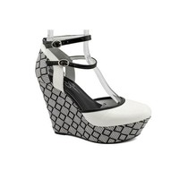 Jessica Simpson Pace - White Black Pat