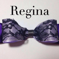 Regina purple beauty (once upon a time ) inspired bow