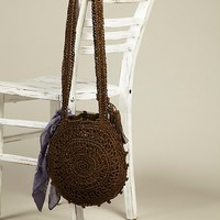 Free People Straw Cantine Crossbody Bag