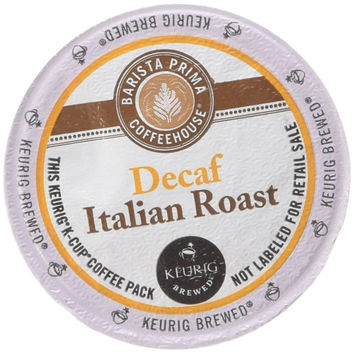 Barista Prima Coffee Italian Roast Decaf K-Cup Portion Pack for Keurig Brewer...
