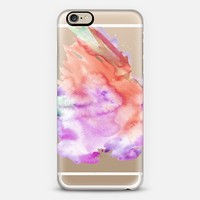 Watercolor Crystal Clear Case iPhone 6 case by Mariam Tronchoni | Casetify