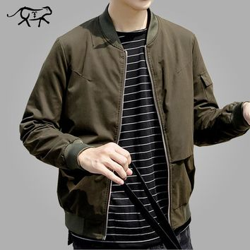 Design Jacket Men Fashion Korean Mens Bomber Jackets Casual Slim Fit Outerwear Coats Windbreaker Green Jaqueta Masculina