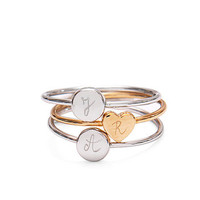 Personalised Initial Stacking Rings