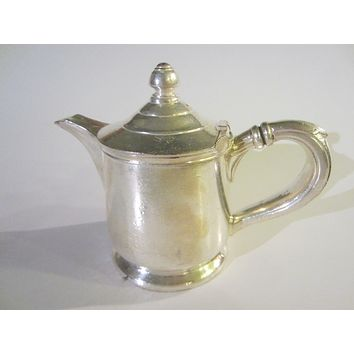 Reed Barton Silver Soldered Hotel Teapot Marked Numbered