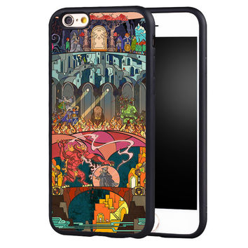 lord of the rings stained glass Printed Soft TPU Protective Shell Phone Case For iPhone 6 6S Plus 7 7 Plus 5 5S 5C SE 4 4S Cover