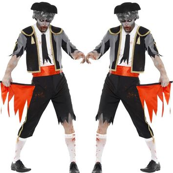 Horror Zombie Costumes Scary Halloween Party Cosplay Costume Ghost Pirates Costumes