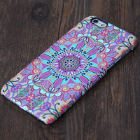 Tribal Ethnic Floral Violet iPhone 6 Plus/6/5S/5C/5/4S/4 Protective Case #608