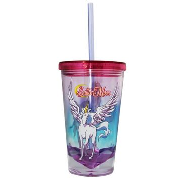 Sailor Moon Acrylic Carnival Cup with Straw Lid BPA Free
